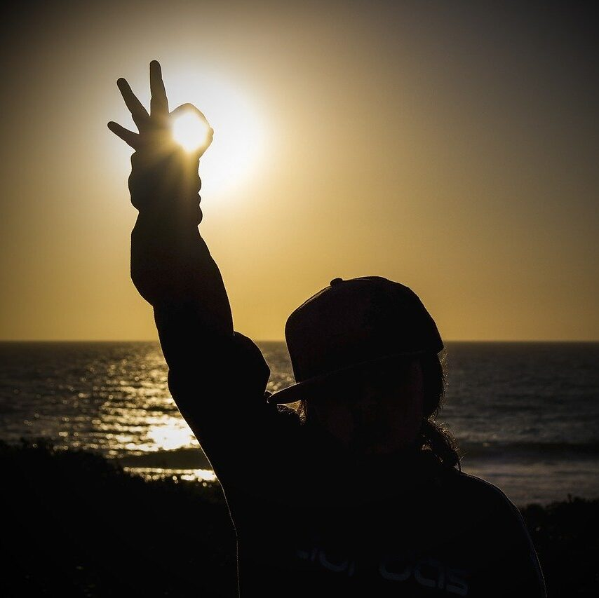 sunset, sea, cottesloe